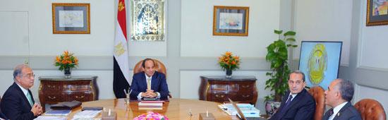 السيسى يجتمع برئيس الوزراء (1)