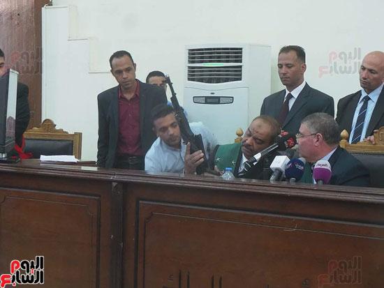 1أسلحة وذخيرة وعلامة رابعة ضمن أحراز المتهمين بـاغتيال النائب العام (2)