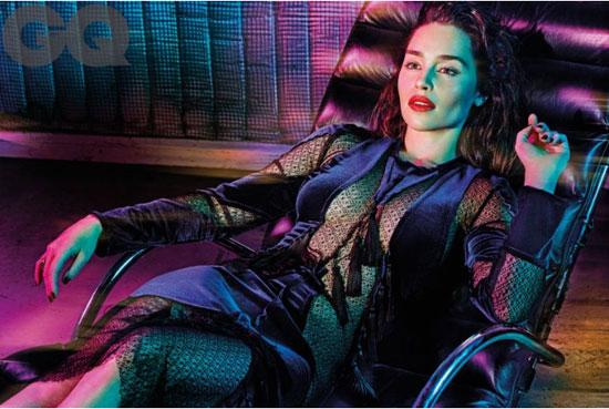 جلسة تصوير مذهلة لـ إميليا كلارك بطلة مسلسل game of thrones (6)