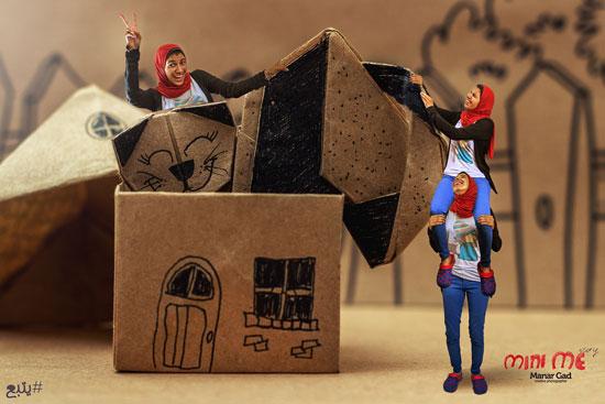 منار فى أرض العجائب مع قطتها -اليوم السابع -8 -2015