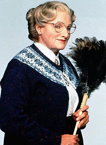 روبين ويليامز عام 1993 فى فيلم Mrs. Doubtfire -اليوم السابع -8 -2015