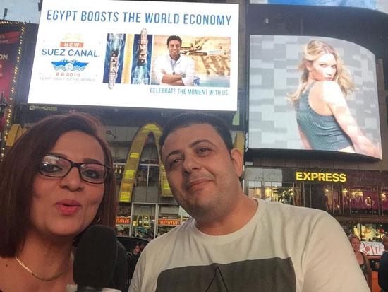 عماد باشا وحنان شلبى مذيعو البرنامج  -اليوم السابع -8 -2015