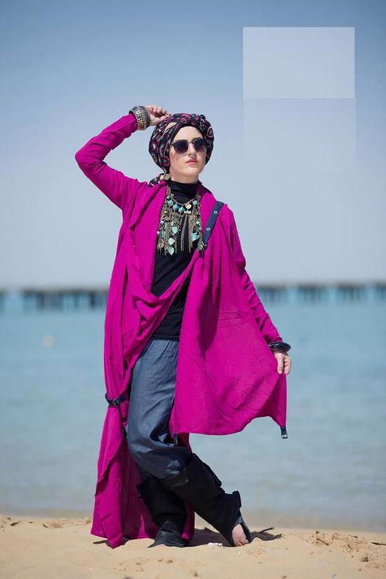 589b26c073aff ملابس المحجبات على البحر دلع وشياكة من غير مايوهات. موديلات مبتكرة تكسر  حاجز النمطية -اليوم السابع -8 -2015