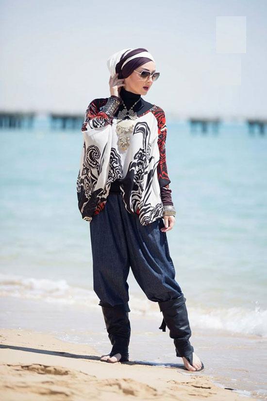 012fdb5a5b077 ملابس المحجبات على البحر دلع وشياكة من غير مايوهات - اليوم السابع