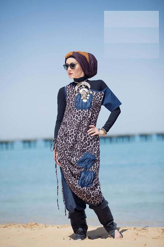 70dee623887f6 ملابس المحجبات على البحر دلع وشياكة من غير مايوهات - اليوم السابع
