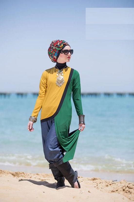 a512e75a738e2 ملابس المحجبات على البحر دلع وشياكة من غير مايوهات - اليوم السابع