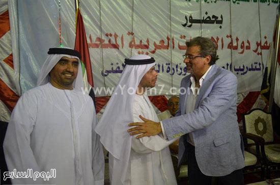 المخرج السينمائى خالد يوسف يستقبل نائب سفير دولة الإمارات بمركز كفر شكر -اليوم السابع -8 -2015