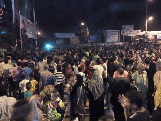 لافتات المرشحين بميدان الزراعيين فى مدينة بنى سويف خلال احتفالات القناة  -اليوم السابع -8 -2015