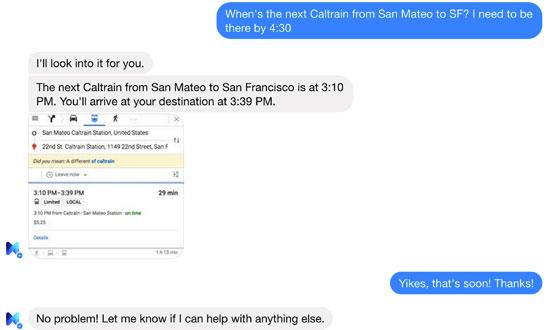 المساعد الشخصى m التابع لفيس بوك القيام به