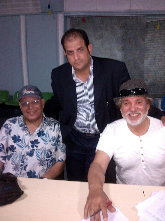 أشرف عبد الغفور والمخرج رضا سليمان وحسن أش أش -اليوم السابع -8 -2015
