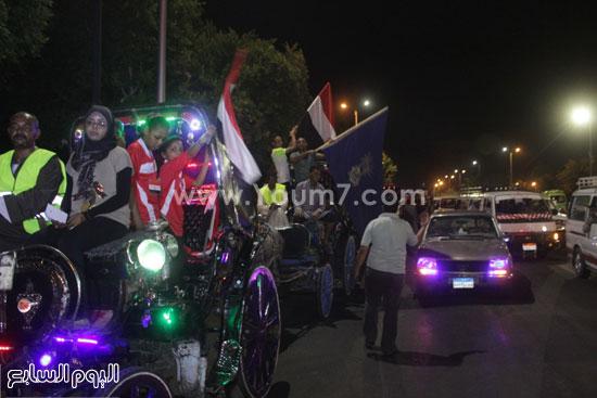 مسيرة بعربات الحنطور -اليوم السابع -8 -2015