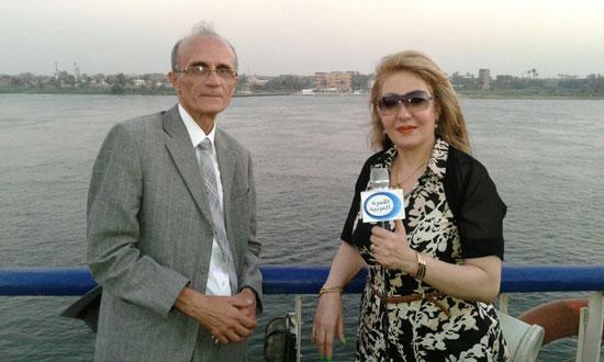 إيمى حسين تقدم حلقة خاصة عن قناة السويس -اليوم السابع -8 -2015