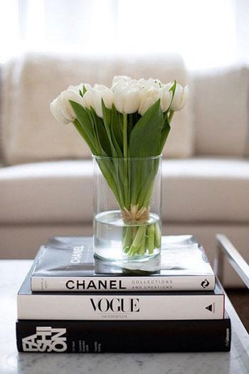 الكتب الملونة بالأبيض والأسود تضفى على المنزل لمسة أنيقة -اليوم السابع -8 -2015