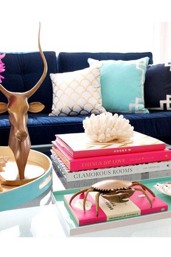 طريقة لتزيين غرفة الجلوس بالكتب الملونة -اليوم السابع -8 -2015