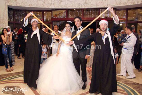 زفة العروسين -اليوم السابع -8 -2015