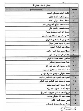 أسماء المقبولين بنتيجة مسابقة السائقين والعمال فى وزارة العدل 8201611711282782016116553028253234