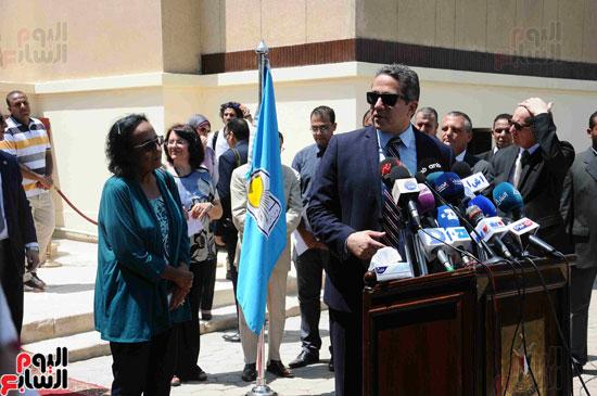 1 (11)وزراء الآثار والثقافة والسياحة يفتتحون متحف ركن فاروق بحلوان