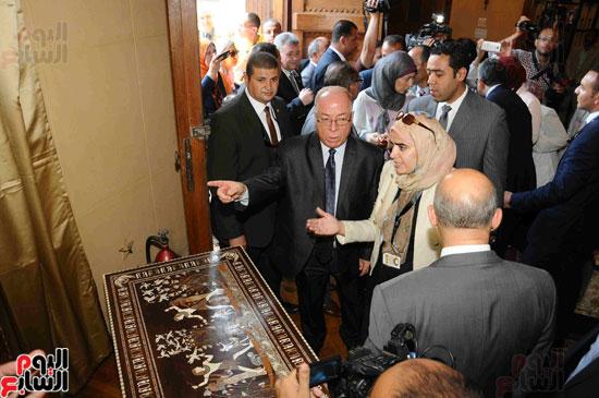 1 (16)وزراء الآثار والثقافة والسياحة يفتتحون متحف ركن فاروق بحلوان
