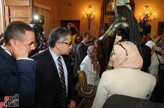 1 (17)وزراء الآثار والثقافة والسياحة يفتتحون متحف ركن فاروق بحلوان