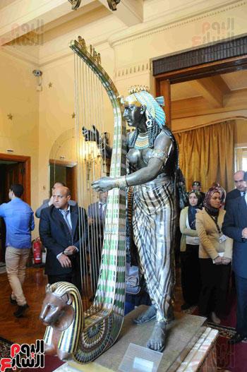1 (29)وزراء الآثار والثقافة والسياحة يفتتحون متحف ركن فاروق بحلوان