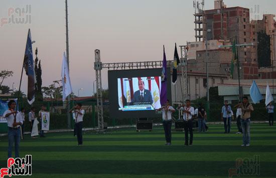 1البابا تواضروس ووزير الرياضة يوقدان شعلة النشاط الصيفى للكشافة بالإسكندرية (10)
