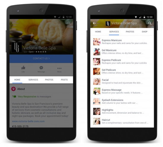 تحديث جديد بالفيس بوك يحول الصفحات إلى مول تجارى