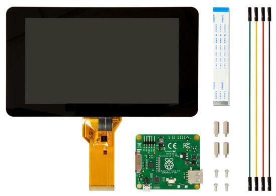 شاشة بمقاس 7 بوصة لجهاز Raspberry Pi متاحة للبيع