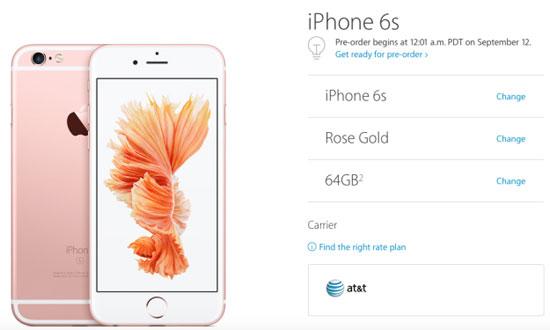 بدء الحجز المسبق لهواتف أبل iPhone 6s و iPhone 6s Plus