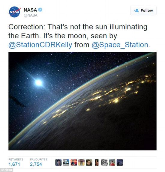 ناسا تتسبب فى سخرية 1,2 مليون متابع لها على تويتر