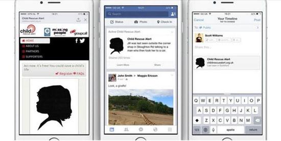 فيس بوك يبث تنبيهات على صفحات المستخدمين للبحث عن الأطفال المفقودين