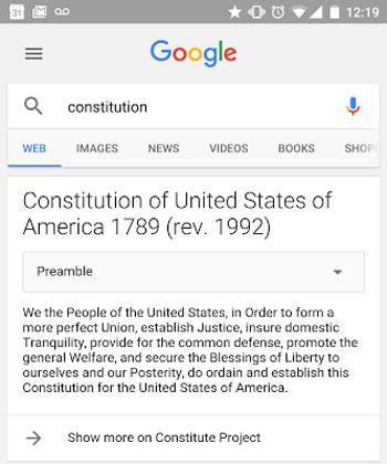 جوجل تعرض الدستور الكامل لـ 13 دولة مباشرة فى نتائج البحث