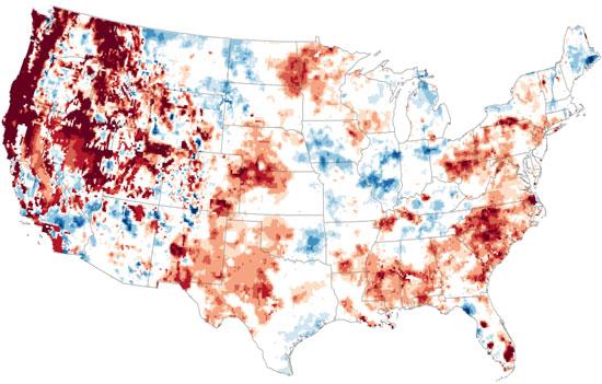 ناسا تنشر صورا تعكس انتشار الجفاف فى العالم
