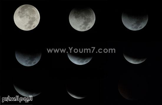 2 ـ خسوف القمر بعدسة محمد بيومى -اليوم السابع -9 -2015
