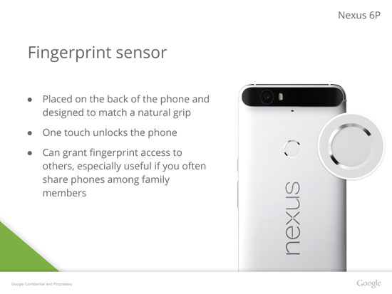 تسريبات لمواصفات Nexus 6P وشكل التصميم