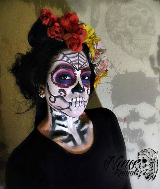 اعمل نفسك مرعب مارينا فنانة فى رسم الرعب على الوشوش هتخاف