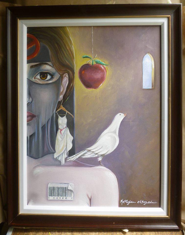 لوحات الفنان مصطفى السيد