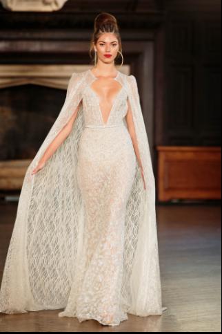 4549cd356612c الجيبير من أكثر الأقمشة المفضلة لدى النساء خصوصًا فى فساتين الزفاف، وهو كما  موضح فى الصورة فستان زفاف بـ