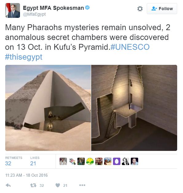 صحف بريطانية تعلن اكتشاف غرفتين سريتين داخل الهرم الأكبر 331534-6