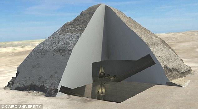 صحف بريطانية تعلن اكتشاف غرفتين سريتين داخل الهرم الأكبر 46786-cairo-uni