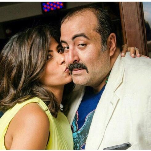 روبي مع زوجها سامح عبد العزيز