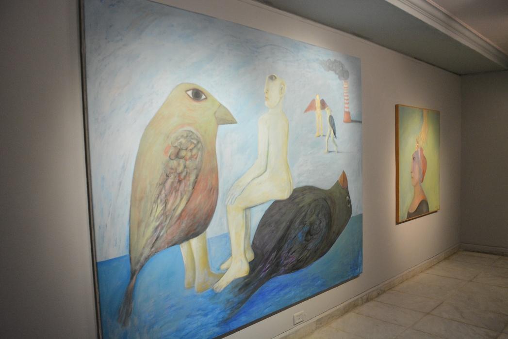 احدى لوحات الفنان احمد مرسى