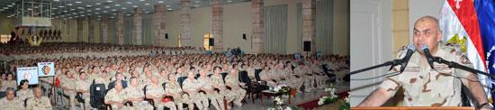 جزء من لقاء وزير الدفاع مع طلاب المعاهد العسكرية