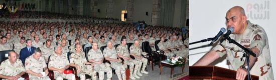لقاء الفريق اول صدقى وزير الدفاع بطلاب المعاهد والكليات العسكرية