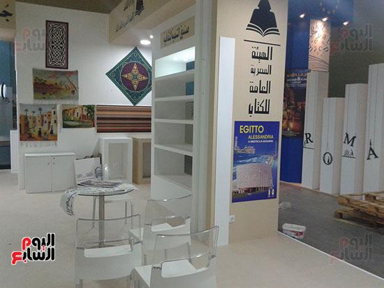 تجهيزات الجناح المصرى بمعرض الجزائر الدولى للكتاب