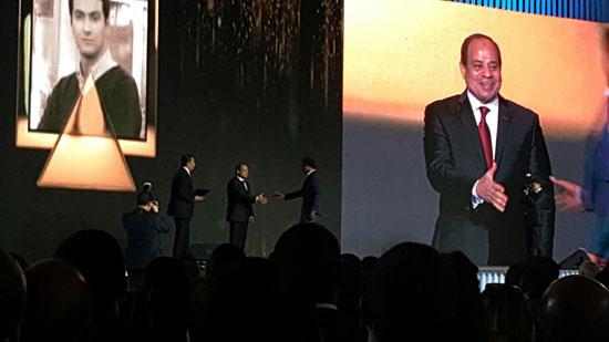 ننشر صور الفائزين بجوائز الإبداع فى ختام مؤتمر الشباب وتكريم الرئيس لهم (36)