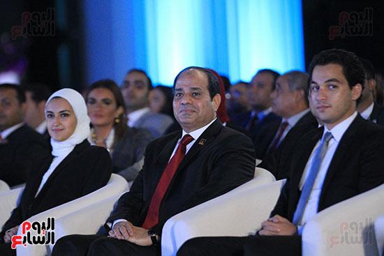 1الرئيس السيسى يشهد الجلسة الختامية لمؤتمر الشباب فى شرم الشيخ (1)