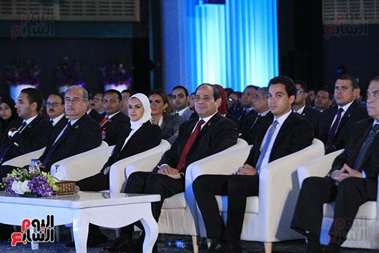 1الرئيس السيسى يشهد الجلسة الختامية لمؤتمر الشباب فى شرم الشيخ (21)