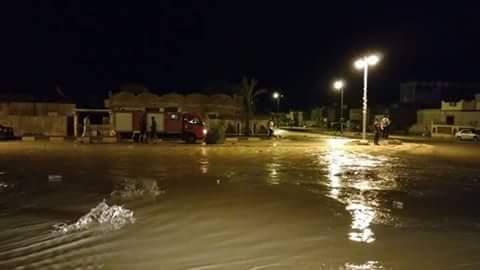 الحماية المدنية ترفع المياه من شوارع رأس غارب