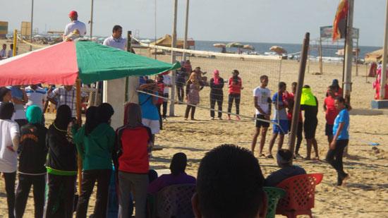 جانب من المهرجان على شاطئ بورسعيد