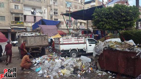 المخلفات في شوارع دسوق
